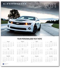 Camaro Z28 2014 Wall Calendar