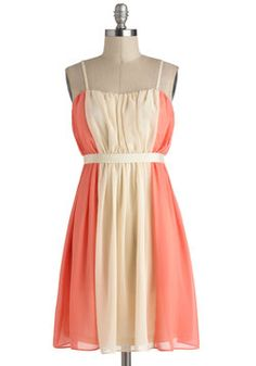 Practice What You Peach Dress, #ModCloth. @Melissa Hornek Darling