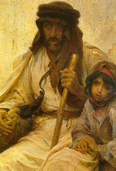 Bedouin With Young Girl ~ Alois Hans Schram – Austrian) Arabian People, History Of Islam, Arabian Art, Baroque Art, Magazine Art, Erotic Art, American Artists, Online Art Gallery, Contemporary Art