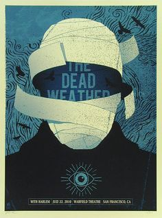 The Dead Weather #gigposter by Methane Studios.