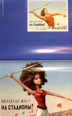 Editorial: Soviet Posters Re-imagined with Barbie Dolls
