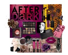 """after dark"" by immy-medley ❤ liked on Polyvore featuring beauty, Chanel, Yves Saint Laurent, Lord & Berry, Alchemy England, Lime Crime and Smashbox"