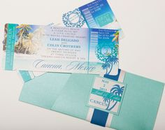 Boarding Pass Invitation or Save the Date by MedanoDesigns on Etsy, $20.00