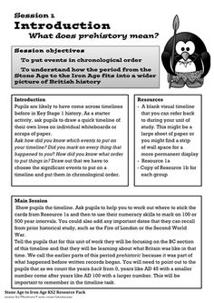 Bronze Age Lesson Plans - part of the Stone Age to Iron Age history topic for Year 3 or Year Includes full lesson plans and pupil resources/worksheets. Introduction: What does Prehistory Mean? This lesson puts the Br. Prehistoric Period, Make A Timeline, Ancient Egyptian Art, Ancient Aliens, Ancient Greece, Art Worksheets, British History, European History, American History