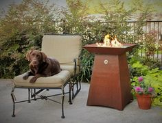 Cor-Ten Steel Fire Pit | Patio Fire Pit | Fire Pit | Garden Torch - Modern Fire PIts | Fire Pits | Large Planter Boxes | Custom Fire Pit