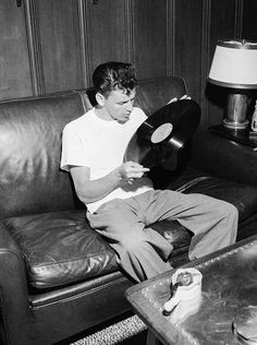 Young Frank Sinatra, listening to records- I guess this has some hidden meaning too.