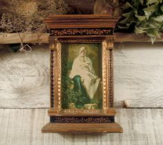 Vintage Italian Florentine Wood  Picture Frame by AloofNewfWhimsy