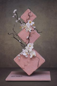 by Seema Bagaria - Cake Decorating Simple Ideen Gravity Defying Cake, Gravity Cake, Elegant Wedding Cakes, Wedding Cake Designs, Elegant Cakes, Pretty Cakes, Beautiful Cakes, Cake Structure, Geometric Cake