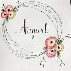 "54 Likes, 1 Comments - Rabiscos da Julie (@rabiscosdajulie) on Instagram: ""See you in August.... . . . . . . #bulletjournal #bullets #bulletjournaBrazil #august…"""