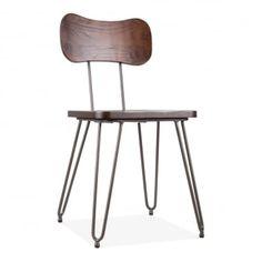 Susa Metal Hairpin Dining Chair, Rustic
