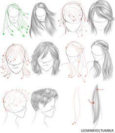 hair drawing help