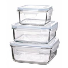 Disse glasbeholdere er både et sundt og miljøvenligt valg og bliver hurtigt helt uundværlige i dit køkken. Plastic Food Containers, Food Storage Containers, Lunchbox Kind, Thermal Lunch Box, Bread Tin, Lunch Box Set, Cereal Dispenser, Glass Food Storage, Storage Sets