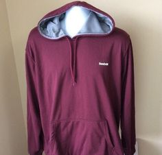 Reebok Men's Pullover Hoodie Sweatshirt Size XL Maroon #fashion #clothing #shoes #accessories #mensclothing #activewear (ebay link)