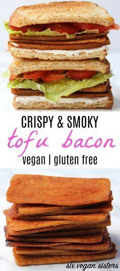 Crispy & Smoky Tofu Bacon - Vegan | Gluten Free @sixvegansisters