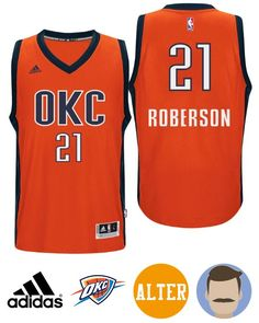 f3cbe1ac393 Judge a fan with this Thunder Andre Roberson 2015-16 Season Alternate Orange  Jersey