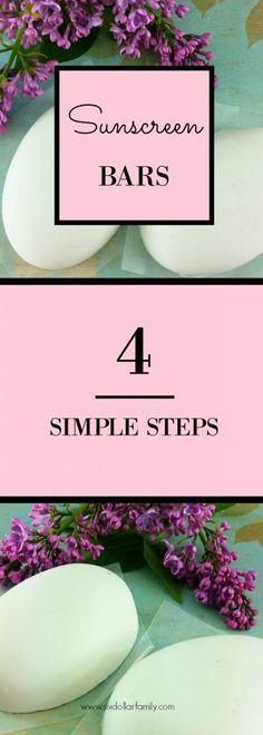 Ready for sunny days? These DIY Sunscreen Bars are all-natural and work better than the store-bought stuff! Plus they're super easy to make! Just 4 steps!