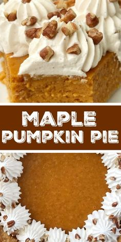 Maple Pumpkin Pie |