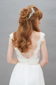This back with the tulip  sleeves and a lavender ribbon would look nice, I think.