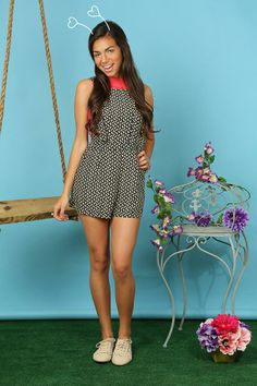 Printed Overall #Romper