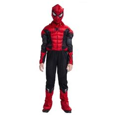 Kids Spiderman Muscle Jumpsuits Halloween Cosplay Costume Far From Home Superhero Fancy Costumes Fancy Costumes, Adult Costumes, Cosplay Costumes, Halloween Cosplay, Fancy Dress, Spiderman, Winter Jackets, Jumpsuit, Marvel