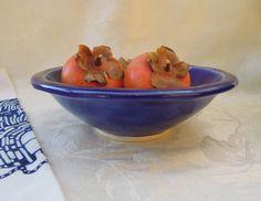 Cobalt blue bowl salad & serving by jillvz on Etsy, $16.00