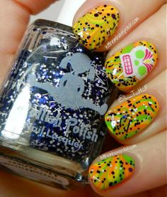 Happy October!! Kicking the Month Off in a Bettina and Dollish Polish Watermarble