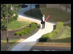 Man Fights Goose, With Lightsaber / #starwars