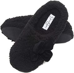 New Jessica Simpson Women's Plush Marshmallow Slide on House Slipper Clog With Memory Foam. leopard print sandals ($20.83)findtopgoods
