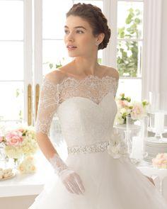 Aneto vestido de novia corte evasé