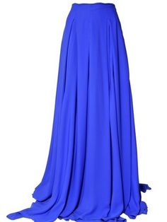 16964d42ec Antonio Berardi Crepe De Chine Long Skirt in Blue - Lyst