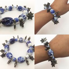 Stars in the sky charms and bead bracelet #stars #glassbeads #accessories #accessoriesoftheday #accessorieslovers #etsy #etsyseller #charmbracelet #beads #starcharm #blueandwhite #blue #whitebead #fashion #instapic #instafollow #instalove #armatuer #berlin #paris #worldwide #cashondelivery #india #chandigarh #handmade #art #varanasi #delhi #celestial