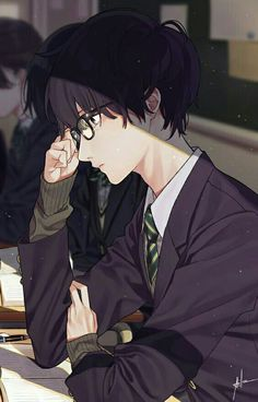 Anime boy with glasses 🤓 handsome anime guys, cute anime guys, hot anime boy Hot Anime Boy, Anime Love, Cool Anime Guys, Manga Anime, Anime Nerd, Manga Boy, Anime Guys Shirtless, Handsome Anime Guys, Kawaii Anime