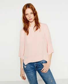 ZARA - WOMAN - BOATNECK BLOUSE