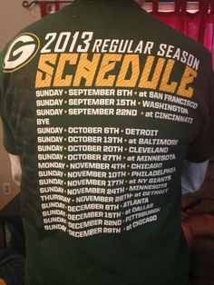 Sports- Packers Schedule