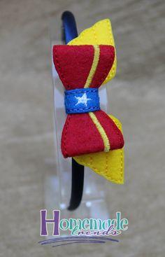 Wonder Hero Hair Accessory-Felt Wonder Hero 3D by HomemadeTrends