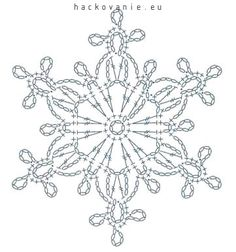 Crochet Diagram, Crochet Motif, Crochet Doilies, Crochet Flowers, Crochet Christmas Ornaments, Christmas Crochet Patterns, Crochet Snowflakes, Crochet Butterfly Pattern, Crochet Wall Art