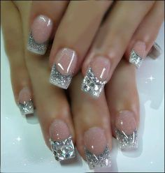maybe just a little more whie showing bridal nails