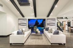 Meridith Baer Home | Home Staging - Liked @ Homescapes Home Staging www.homescapes-sd.com #contemporarylivingroom