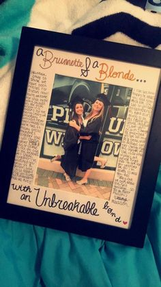 Diy Best Friend Gifts, Bestie Gifts, Grad Gifts, Best Friend Graduation Gifts, Diy Bff Gifts, Present For Best Friend, Friendaversary Gifts, Sister Gifts, Bff Birthday Gift