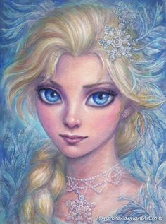 A little (A4) portrait of Elsa in watercolor An other Elsa by me : fav.me/d9ow466 Winter Spell : fav.me/datjsm4 Jack Frost : fav.me/d9lnm1w