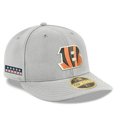 Men s Cincinnati Bengals New Era Gray Crafted in the USA Low Profile  59FIFTY Fitted Hat 7282657e4