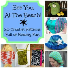Guest post written by Jennifer Dickerson of Fiber Flux  With summer vacation season starting, all I can think about is heading straight for the beach! Here are 20 crochet patterns to wear or take. Tote bags, swimsuit cover ups, sun hats and lot
