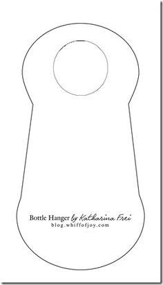template for bottle hanger
