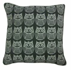 Use this cute and modern chenille owl cushion for a quick way to add decoration to your room.