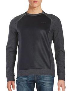 Calvin Klein Contrast Zip Shoulder Sweatshirt Men's Grey XX-Large