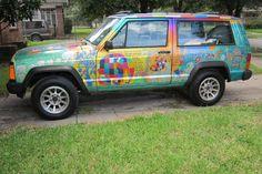 jeep cherokee art car ebay photo
