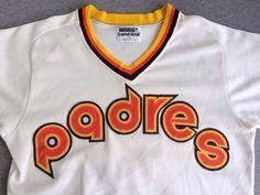 401410910d1 Rare PADRES Sand Knit Jersey Steve Garvey 80s  Medalist SaN DIEGO Baseball  Sewn  6 Uniform  MLB Pullover V Neck Game Shirt