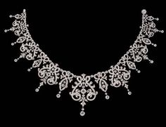 Antique Diamond Necklace, Mounted In Gold And Silver   c. 1870  -  Christie's