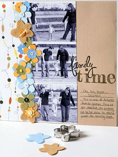 Paper-Punch Techniques for Scrapbooking: Use Punched Paper Flowers to Fill Out a Border
