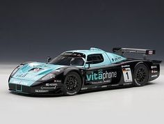 AUTOart 1:18 #Maserati MC12 Diecast Model Car 81035 This #Maserati MC12 (FIA GT1 Championship Winner 2010) Diecast Model Car is Black and Blue and features working steering, suspension, wheels and also opening bonnet, boot with engine, doors. It is made by AUTOart and is 1:18 scale (approx. 25cm / 9.8in long). Driven by Bartels and Bertolini. #AUTOart #ModelCar #Maserati